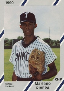 1990 Diamond Cards Tampa Yankees Mariano Rivera