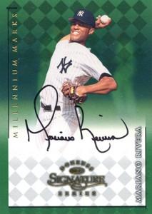 1998 Donruss Signature Series Millennium Marks Mariano Rivera Autograph