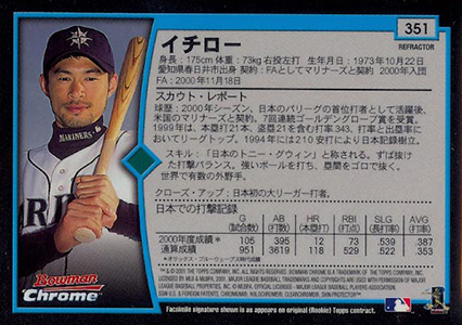 Top 10 Japanese Ichiro Cards to Collect 23