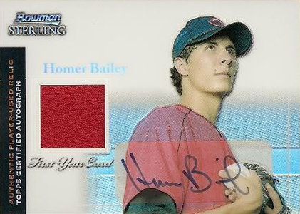 Homer Bailey Cards and Memorabilia Guide 3