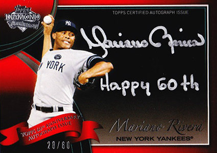 2011 Topps Diamond Anniversary Autographs Mariano Rivera
