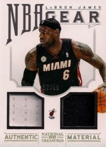 2012-13 National Treasures Basketball NBA Gear Jersey LeBron James