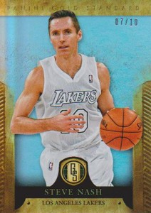 2012-13 Panini Gold Standard Variations Steve Nash Lakers Platinum