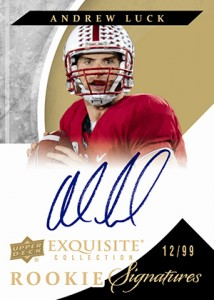 2012 Upper Deck Exquisite Rookie Signatures Andrew Luck