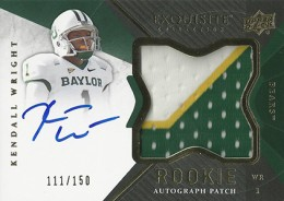 2012 Upper Deck Exquisite Rookie Autograph Patch 121 Kendall Wright