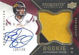 2012 Upper Deck Exquisite Football Rookie Autograph Patch Visual Guide 2