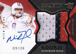 2012 Upper Deck Exquisite Football Rookie Autograph Patch Visual Guide 3