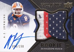 2012 Upper Deck Exquisite Football Rookie Autograph Patch Visual Guide 4