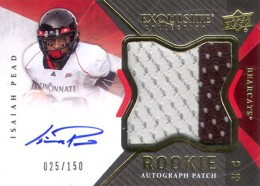 2012 Upper Deck Exquisite Football Rookie Autograph Patch Visual Guide 9