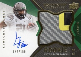 2012 Upper Deck Exquisite Football Rookie Autograph Patch Visual Guide 10