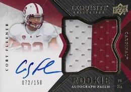 2012 Upper Deck Exquisite Football Rookie Autograph Patch Visual Guide 12