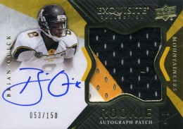 2012 Upper Deck Exquisite Football Rookie Autograph Patch Visual Guide 13