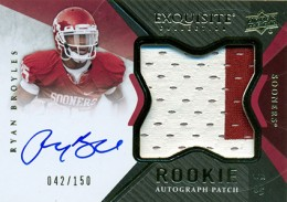 2012 Upper Deck Exquisite Football Rookie Autograph Patch Visual Guide 16