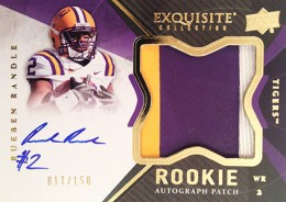 2012 Upper Deck Exquisite Football Rookie Autograph Patch Visual Guide 17