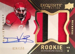 2012 Upper Deck Exquisite Football Rookie Autograph Patch Visual Guide 18