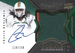 2012 Upper Deck Exquisite Football Rookie Autograph Patch Visual Guide 20