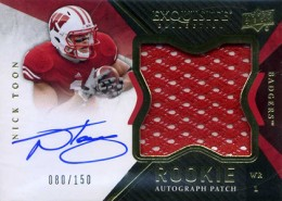 2012 Upper Deck Exquisite Football Rookie Autograph Patch Visual Guide 22
