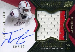 2012 Upper Deck Exquisite Football Rookie Autograph Patch Visual Guide 23