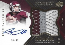 2012 Upper Deck Exquisite Football Rookie Autograph Patch Visual Guide 25