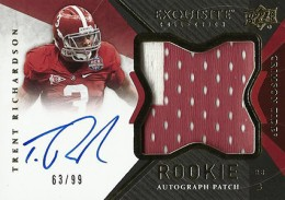 2012 Upper Deck Exquisite Football Rookie Autograph Patch Visual Guide 27