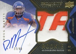 2012 Upper Deck Exquisite Football Rookie Autograph Patch Visual Guide 28