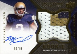 2012 Upper Deck Exquisite Football Rookie Autograph Patch Visual Guide 30
