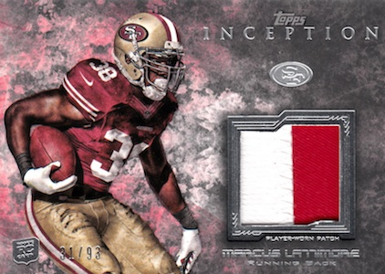 2013 Topps Inception Football Cards 13