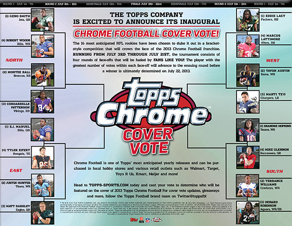 Who Will Be the Face of 2013 Topps Chrome Football? Have Your Say 1