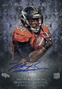 2013 Topps Inception Football Rookie Autographs 122 Montee Ball
