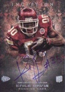 2013 Topps Inception Football Rookie Autographs Guide 19
