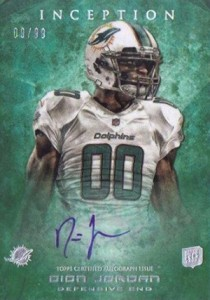 2013 Topps Inception Football Rookie Autographs Guide 40