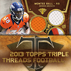 2013 Topps Triple Threads Football Cards