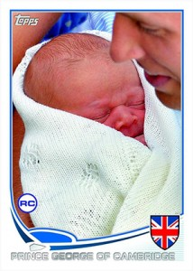 Prince George of Cambridge Gets a Rookie Card 1