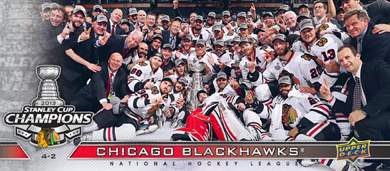 2013 Upper Deck Chicago Blackhawks Stanley Cup Box Set Hockey Cards 12