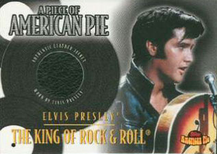 2001 Topps American Pie Relics PAPM3 Elvis Presley Leather Jacket