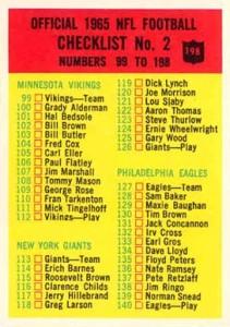 1965 Philadelphia Football Cards 25