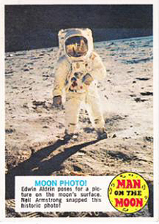 1969 Topps Man on the Moon Trading Cards 25