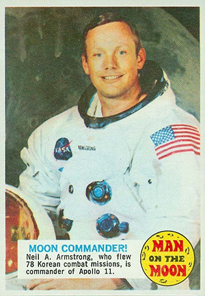 1969 Topps Man on the Moon Trading Cards 24