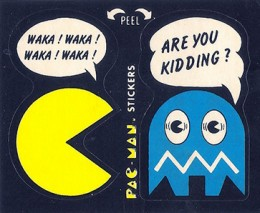 1980 Fleer Pac-Man Stickers