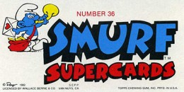 1982 Topps Smurf Supercards Trading Cards 2