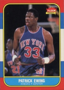 1986-87 Fleer Patrick Ewing RC