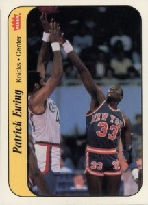 1986-87 Fleer Stickers Patrick Ewing