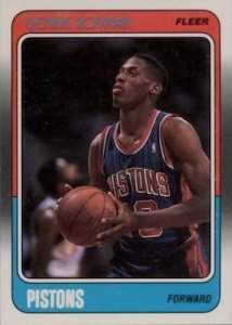 1988-89 Fleer Dennis Rodman #43 RC