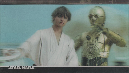 1996 Topps Star Wars 3Di Widevision Trading Cards 21