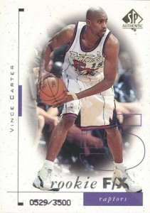 Vince Carter Cards and Autographed Memorabilia Guide 1