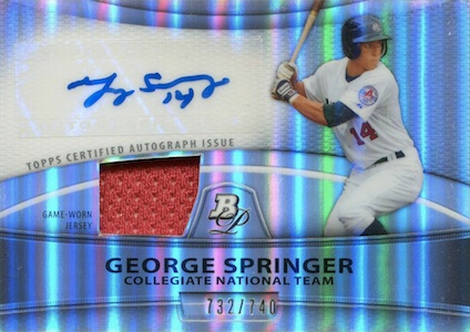 MVP! Top George Springer Rookie Cards and Key Prospects 29