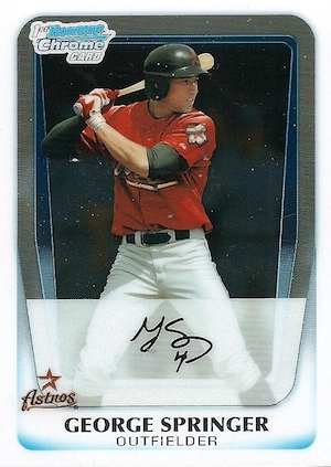 MVP! Top George Springer Rookie Cards and Key Prospects 31