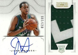 2012-13 National Treasures Basketball Rookie Patch Autographs Guide 47