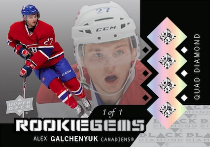 2013-14 Upper Deck Black Diamond Hockey Quad Diamond Rookie Gems Relics Alex Galchenyuk