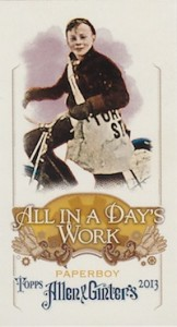 Unannounced Mini Inserts Emerge from 2013 Allen & Ginter Baseball 1